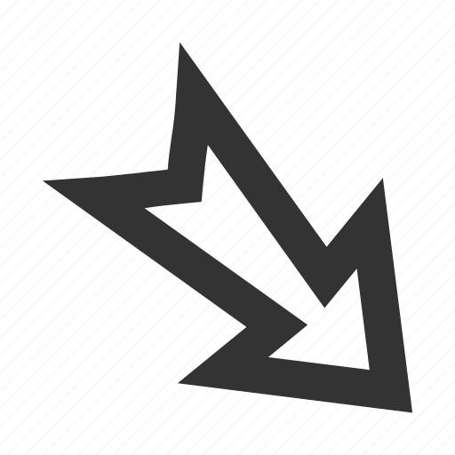 arrow, cursor, direction, export, move out, navigation, right down icon