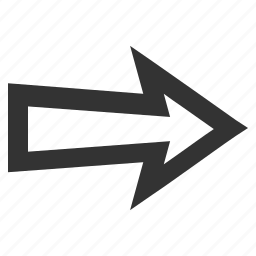 continue, direction, forward, move, next, pointer, right arrow icon