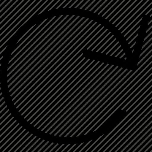 arrow, next, pointer, refresh icon