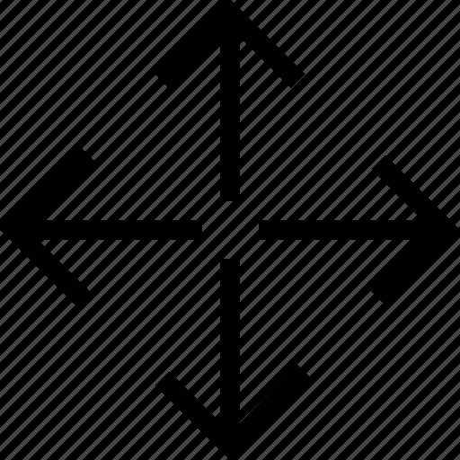 arrow, arrows, expand, pointer icon