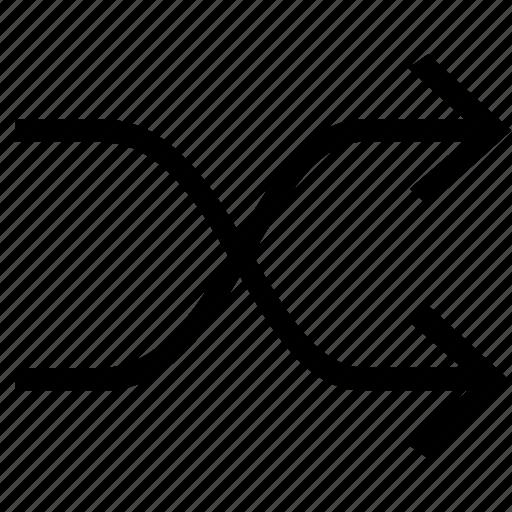 arrow, mix, shuffle, swap icon