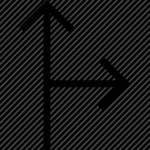 arrow, arrows, direction, intersection icon