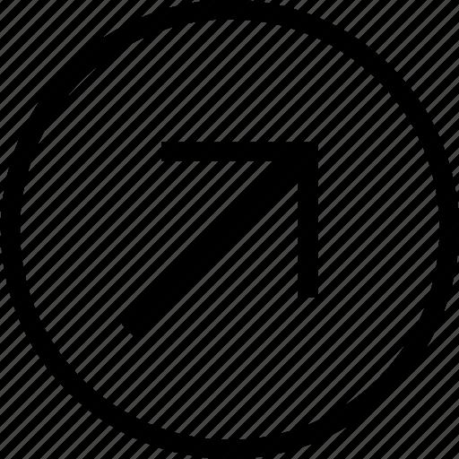arrow, diagonal, direction, pointer icon