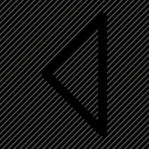arrow, arrows, back, gps, left, navigation, triangular arrow left, west icon