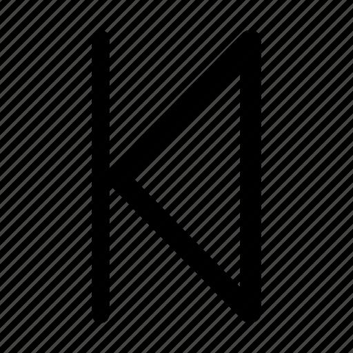 arrow, arrows, navigate, rewind, skip, skip back, video icon