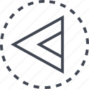 arrow, back, direction, pointer icon