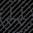 arrow, direction, double, pointer icon