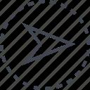 arrow, go, pointer, right icon