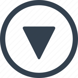 arrow, circle, direction, down icon
