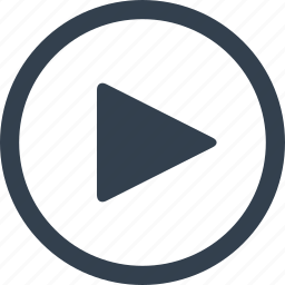 arrow, circle, direction, play, right icon