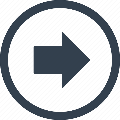 arrow, circle, direction, right icon