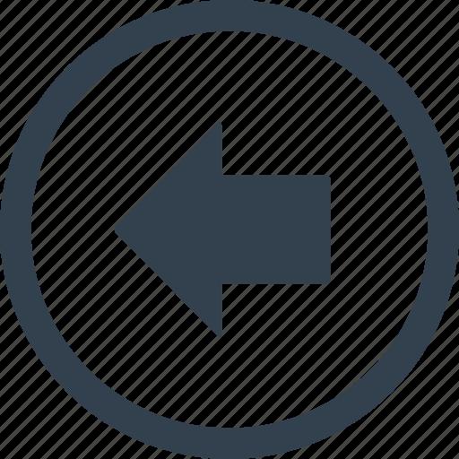 arrow, circle, direction, left icon