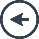 arrow, circle, direction, left icon