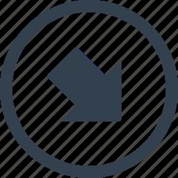 arrow, circle, direction icon