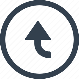 arrow, circle, direction icon