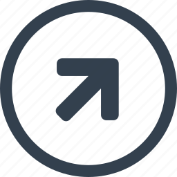 arrow, circle, direction, up icon