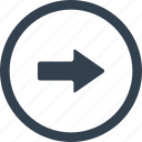 arrow, circle, direction, right icon