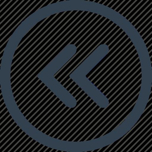 arrows, circle, direction, left icon