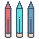 color, crayon, draw, drawing, edit, pencil, stationery icon
