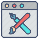 art pad, app, coloring, disital, drawing, tool icon