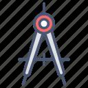 geometry tool, construction, learning, math, preschool, set square icon