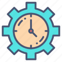appointment, calendar, event, gear, schedule, setting, timer icon