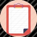 check board, checklist, invoice, list of items, waiting list icon