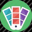 color catalogue, color palettes, color shades, color shades bar, different colors icon