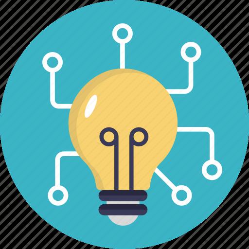 bright idea, broad mindedness, collective idea, connection, ideas icon