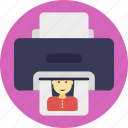 automatic printer, color printer, electronic machine, printing pages, printing picture icon