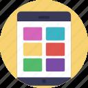 color boxes, color catalogue, color palette, color selection, shades of color icon