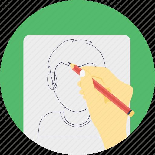 pencil drawing, sketch artist, sketch pencil, sketchbook, sketching icon