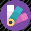 color bars, color catalogue, color codes, color selection, color shades icon