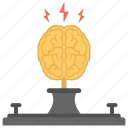 artificial brain, artificial intelligence, brain short circuit, electric brain, information technology symbol icon