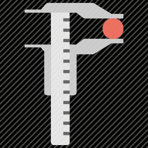 construction tool, gauge, physics, scientific instrument, vernier caliper icon