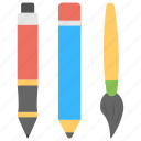 art, design symbol, drawing material, drawing tools, stationery icon