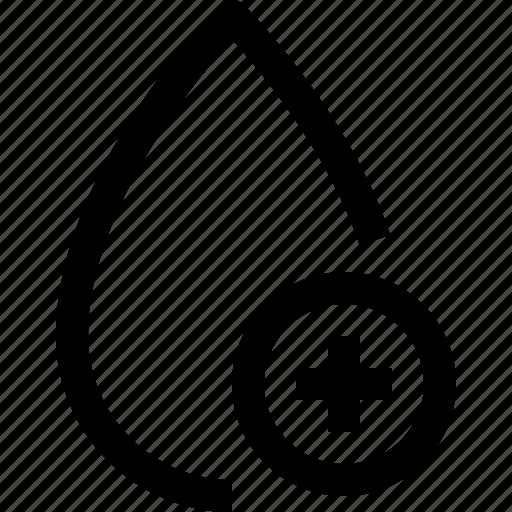 add, color, drop icon