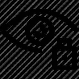 eye, layer, lock icon