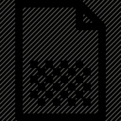 document, file, graphic icon