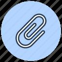 attachment, clip, paper, stationery icon