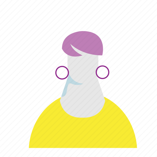 avatar, facebook, fashion, trend, vibrant, woman icon