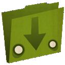 arrow, download, folder