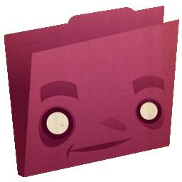 folder, pink icon