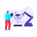 industrial robot, industrial arm, robot technology, robotic hydraulic arm, production robot icon