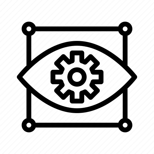 computer, eye, settings, tech, vision icon