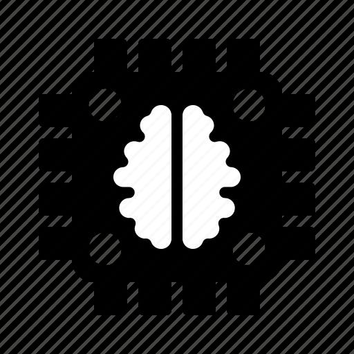 artificial, brain, chipset, computer, intelligence, processor icon