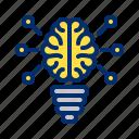 artificial, brain, computer, intelligence, robot, smart, tech icon
