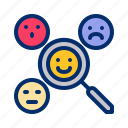 analysis, emoji, emoticon, emotion, happy, sad icon