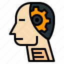ai, artificial, gear, intelligence, robot icon