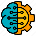 ai, artificial, brain, brainstorming, intelligence icon